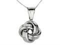 Polished Love Knot Pendant on 18 Inch Chain