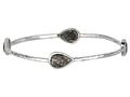 Phillip Gavriel 7.25 Inch Rutilated Quartz Station Bangle