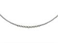Rhodium Plated 17 Inch 6-12mm Round Bead Graduated Necklace with Lobster Clasp