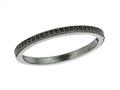 "925 Sterling Silver Ruthenium Plated Stackable Ring with Black Micropave CZ""s"