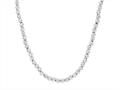 Sterling Silver Shiny Diamond Cut Ladies Necklace