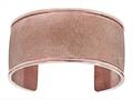 Stainless Steel with Rose Glitter Finish Cuff Bangle