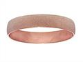 Stainless Steel with Pink Glitter Finish Slip On Bracelet