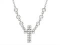 Sterling Silver Shiny Cable Cross Ladies Necklace