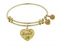 "Angelica Non-antique Yellow Stipple Finish Brass ""sweet 16"" Expandable Bangle"