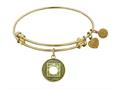 """Antique Yellow Smooth Finish Brass """"nirvana""""  Angelica Expandable Bangle"""