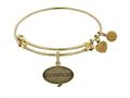 Brass with Yellow Finish Friends How You Doing Angelica Expandable Bangle
