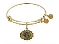 Brass with Yellow Finish Friends Pivot! Angelica Expandable Bangle