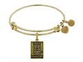 Brass with Yellow Finish Proud Daughter U.S. Army Angelica Expandable Bangle