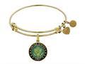 Brass with Yellow Finish U.S. Army Enamel Symbol Angelica Expandable Bangle