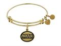 Brass with Yellow Finish U.S. Navy Honor. Courage. Commitment. Angelica Expandable Bangle