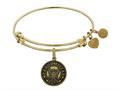 Brass with Yellow Finish Proud Sister U.S. Navy Round Angelica Expandable Bangle