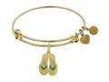 Brass With Yellow Finish Enamel Flip Flop Charm For Angelica Collection Bangle