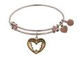 "Angelica Antique Pink Smooth Finish Brass ""Grand Mother"" Expandable Bangle"