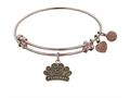 "Antique Pink Stipple Finish Brass ""princess"" Angelica Expandable Bangle"