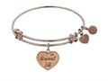 "Angelica Collection Non-antique Pink Stipple Finish Brass ""sweet 16 "" Expandable Bangle"