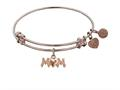 "Non-antique Rose Stipple Finish Brass ""m-heart-m"" Angelica Expandable Bangle"