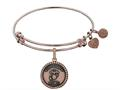 Brass with Pink Finish Proud Daughter U.S. Marine Corps Round Angelica Expandable Bangle