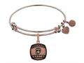 Brass with Pink Finish Proud Sister U.S. Marines Angelica Expandable Bangle