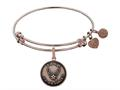 Brass with Pink Finish Aim High U.S. Air Force Round Angelica Expandable Bangle