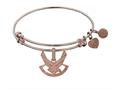 Brass with Pink Finish U.S. Air Force Symbol Angelica Expandable Bangle