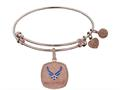 Brass with Pink Finish U.S. Air Force Enamel Symbol Angelica Expandable Bangle