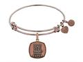 Brass with Pink Finish U.S. Army Wife Angelica Expandable Bangle
