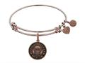Brass with Pink Finish Proud Sister U.S. Navy Round Angelica Expandable Bangle