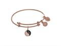 Brass With Pink Yin Yang Charm On Pink Angelica Collection Tween Bangle