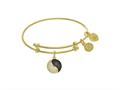 Brass With Yellow Yin Yang Charm On YellowAngelica Tween Bangle