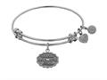 "Angelica Antique White Stipple Finish Brass ""matron Of Honor"" Expandable Bangle"