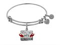 Brass with White Finish Friends You`re my Lobster Angelica Expandable Bangle