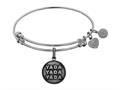 Brass White Finish Seinfeld Yada- Yada-yada Charm For Angelica Collection Bangle