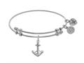 Brass With White Anchor Charm On White Angelica Collection Ba Ngle