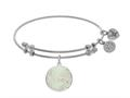 Brass With Round Aunt With Created Mop On White Angelica Collection Bangle