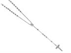 26 inches Silver Rhodium Rosary Bead Necklace Style number: 460038