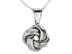 Polished Love Knot Pendant on 18 Inch Chain Style number: 460121