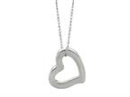 14K White Gold Open Heart Pendant on a 18 Inch Chain Style number: 460204