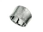 Rhodium Plated Textured Stardust Diamond Cut Ring Style number: 460287