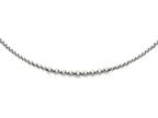 Rhodium Plated 17 Inch 5-8mm Round Bead Graduated Necklace with Lobster Clasp Style number: 460319