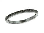 925 Sterling Silver Ruthenium Plated Stackable Ring with Black Micropave CZ's Style number: 460339