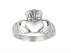 925 Sterling Silver Polished Hands Holding Heart Crown Top Ring Style number: 460341