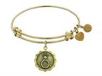 "Angelica Antique Yellow Stipple Finish Brass ""engaged"" Expandable Bangle Style number: GEL1003"