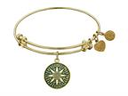 "Angelica Collection Antique Yellow Smooth Finish Brass ""compass"" Expandable Bangle Style number: GEL1055"