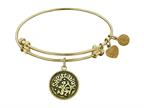 "Angelica Collection Antique Yellow Smooth Finish Brass ""sagittarius""- November Expandable Bangle Style number: GEL1067"