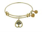 "Angelica Collection Antique Yellow Stipple Finish Brass ""tree Of Life"" Expandable Bangle Style number: GEL1139"