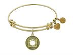 "Antique Yellow Smooth Finish Brass ""nirvana""  Angelica Expandable Bangle Style number: GEL1140"