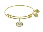 Brass With Yellow Finish Charm On White Angelica Collection Bangle Infinity On Created Mother Of Pearl Style number: GEL1557