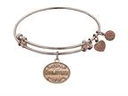 "Angelica Collection Non-antique Pink Stipple Finish Brass ""godmother"" Expandable Bangle Style number: PGEL1041"