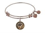 "Angelica Collection Antique Pink Smooth Finish Brass ""capricorn""- -december Expandable Bangle Style number: PGEL1068"